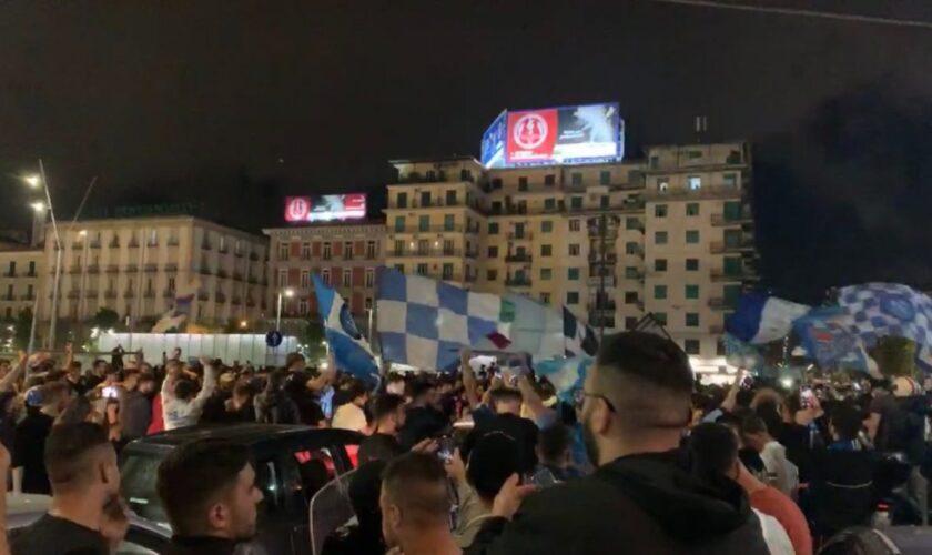 I festeggiamenti in città dopo la vittoria della Coppa Italia