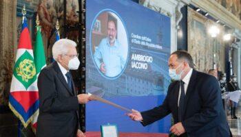 professore Iacono premiato Mattarella