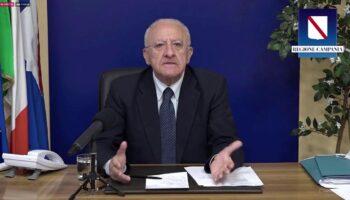 Il governatore della Campania Vincenzo De Luca