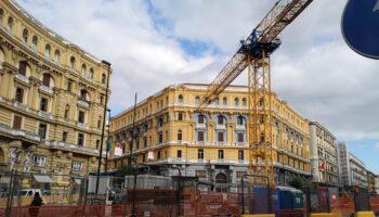 Napoli, la stazione di Via Duomo in costruzione