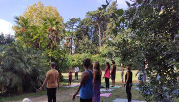 Yoga session floridiana